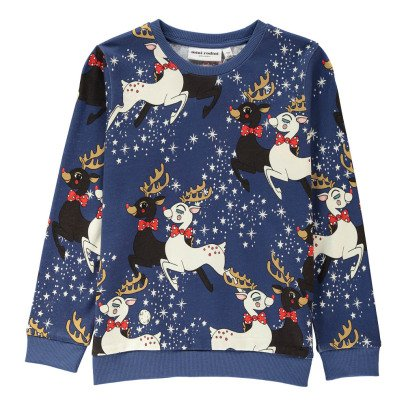 Mini Rodini Organic Cotton Reindeer Sweatshirt-listing
