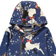 Mini Rodini Organic Cotton Reindeer Zip-Up Jumpsuit-listing