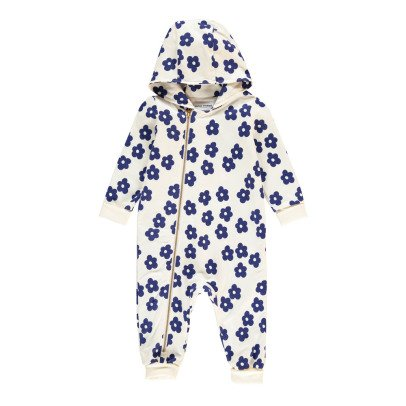Mini Rodini Organic Cotton Floral Zip-Up Jumpsuit-listing