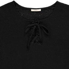 Sessun Douro Lace Up Linen Jersey T-Shirt-listing