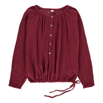 Numero 74 Naia Long Sleeve Blouse - Teen and Women's Collection Raspberry red-product