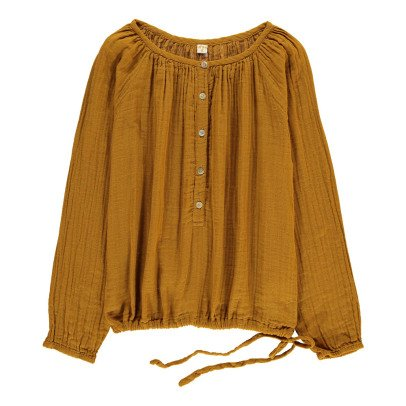 Numero 74 Naia Long Sleeve Blouse - Teen and Women's Collection Mustard-product