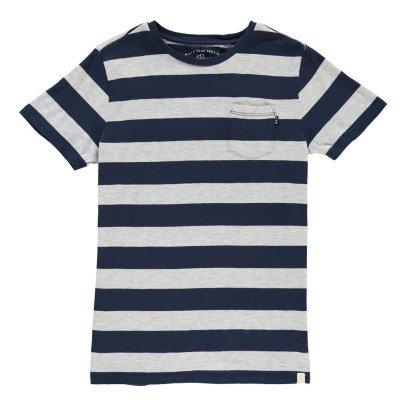 Scotch & Soda Grey Pocket Striped T-Shirt-listing