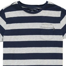 Scotch & Soda Camiseta Rayas Bolsillo Gris-listing