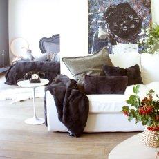 Maison de vacances Plaid non doublé 115x220 cm Charbon-listing