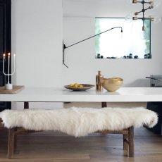 Maison de vacances White English Sheepskin 65x95cm-listing