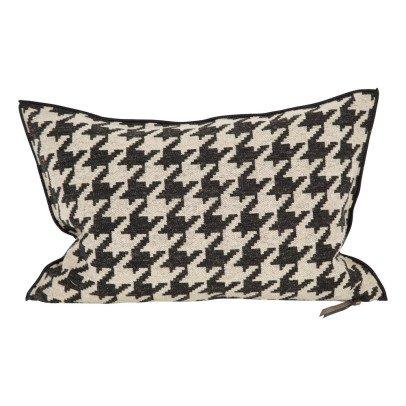 Maison de vacances Carbon Houndstooth Wool Cover Reversible Cushion-listing