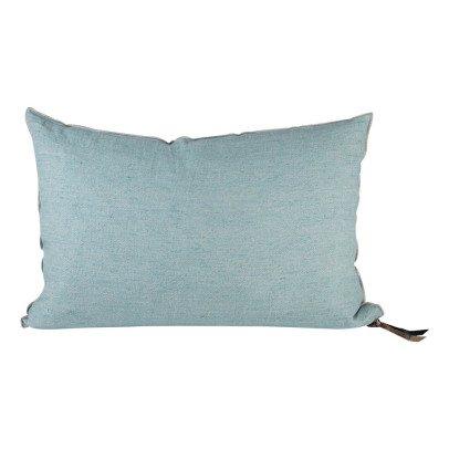 Maison de vacances Aqua Frosted Washed Linen Reversible Cushion-listing