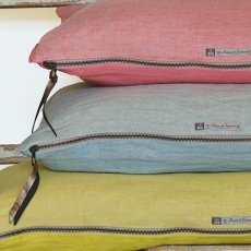 Maison de vacances Ecru Washed Linen Reversible Cushion-listing