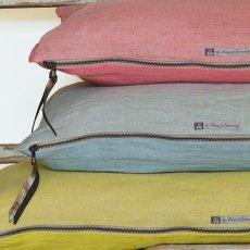 Maison de vacances Cojín Viceversa lino lavado arrugado  OCre-listing