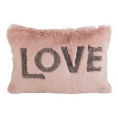 product-Maison de vacances Rose Wood Shaved Rabbit Embroidered Love Cushion