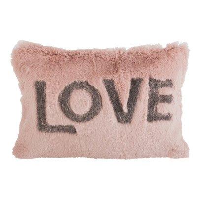 Maison de vacances Coussin Love en lapin rasé brodé Bois de rose-listing