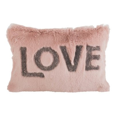 Maison de vacances Rose Wood Shaved Rabbit Embroidered Love Cushion-listing