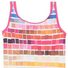 Paul Smith Junior Naiade Checked Stripe 1 Piecce Swimsuit-listing