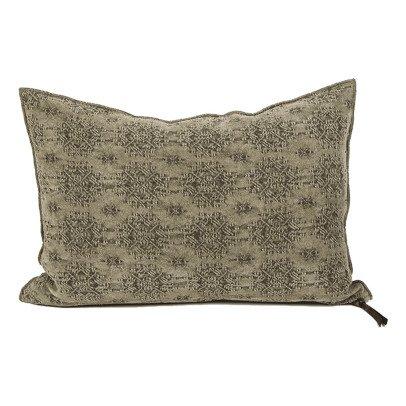 Maison de vacances Khaki Kilim Jacquard Reversible Cushion-listing