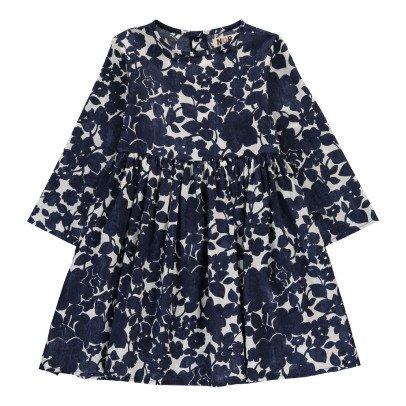 Noro Robe Fleurie Appoline Bleu marine-listing