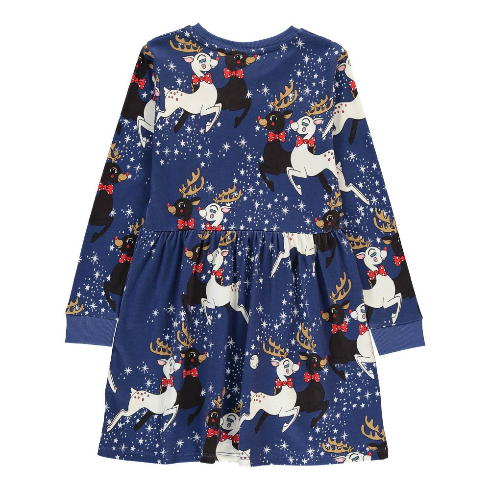 Mini Rodini Organic Cotton Reindeer Skater Dress-product