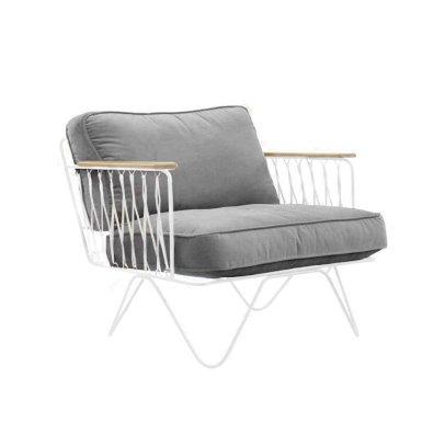 Honoré White Velvet Croisette Bench-listing