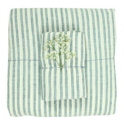 Lab - La Petite Collection Striped Linen Duvet Cover-listing