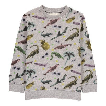 Stella McCartney Kids Sweat Animaux Biz Heather grey-listing