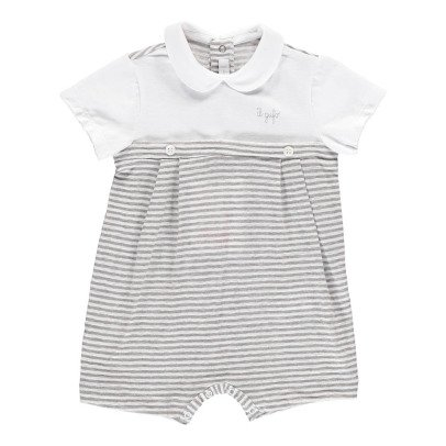 Il Gufo Striped Linen Playsuit-listing