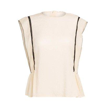Pomandère Silk and Cotton Sleeveless Top-listing
