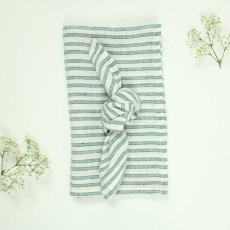 Lab Three Colour Striped Linen Tablecloth and 6 Napkins-listing