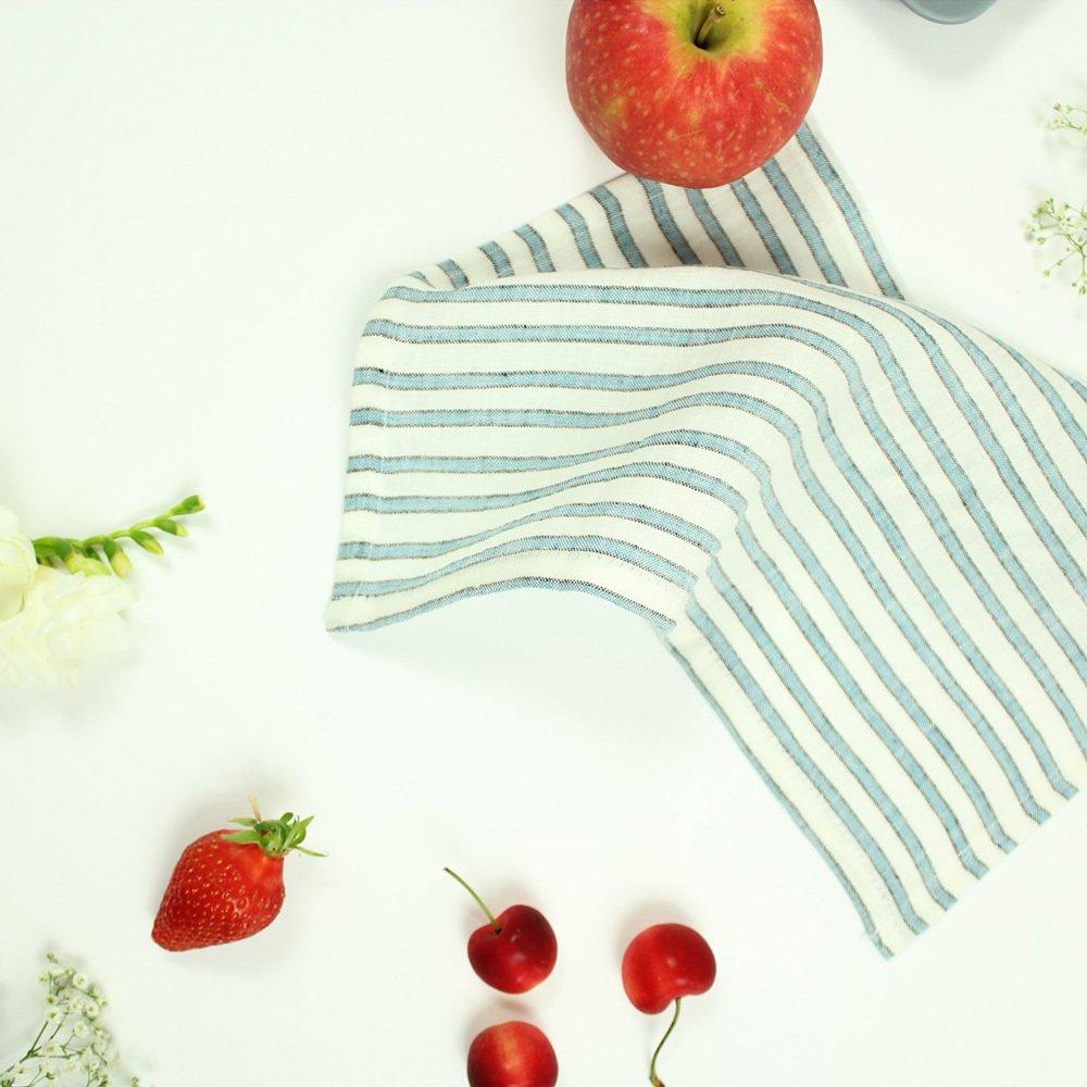 Lab Mantel y 6 servilletas en lino de Rayas tricolor-product