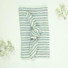 Lab Mantel y 10 servilletas en lino rayas tricolor-listing