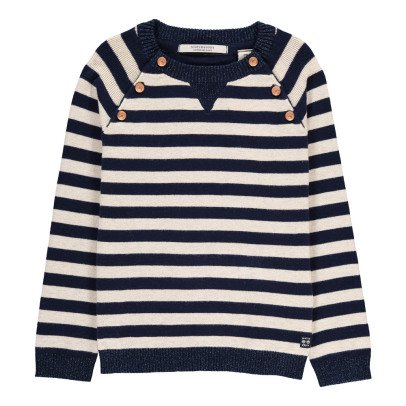 Scotch & Soda Ecru Marinière Jumper-listing