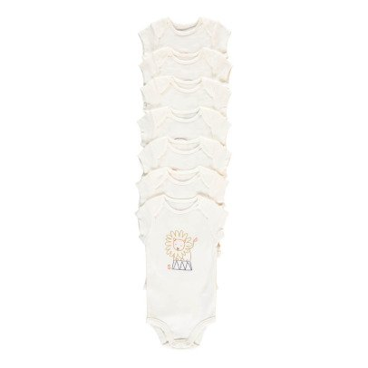 Stella McCartney Kids Semainier 7 Bodies Animaux Sammie Blanc-listing