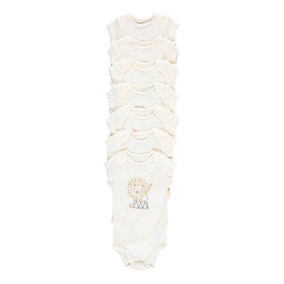 Stella McCartney Kids Semainier 7 Bodies Animaux Sammie White-product