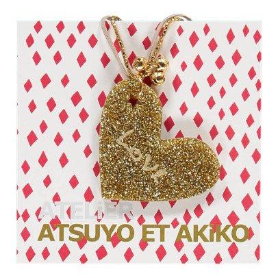 Atsuyo et Akiko Collier Love Heart-listing