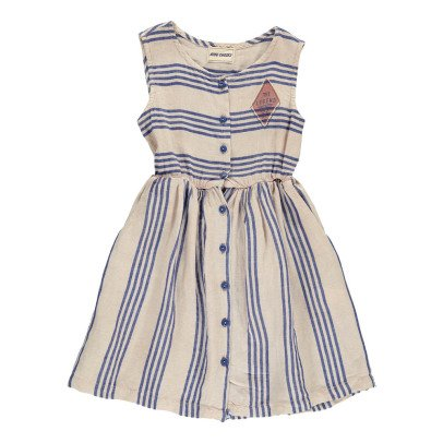Bobo Choses Striped Button-Up Dress-listing