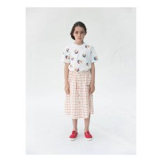 Bobo Choses Net Checked Button-Up Long Skirt-listing