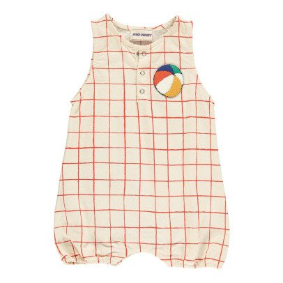 Bobo Choses Beachball Team B.C Checked Romper-product