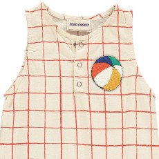 Bobo Choses Beachball Team B.C Checked Romper-listing