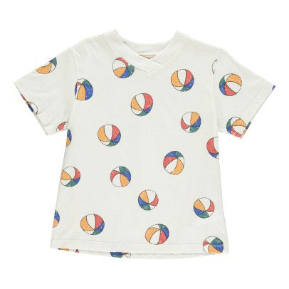 Bobo Choses Organic Cotton Beach Ball V-Neck T-Shirt-listing
