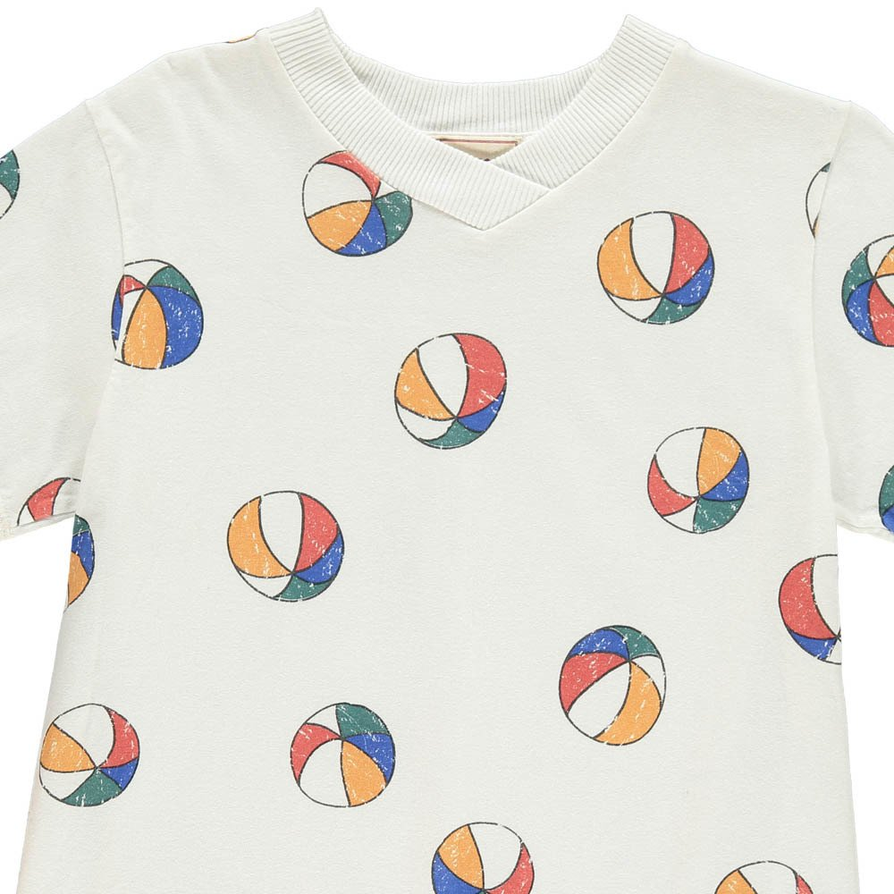Bobo Choses Organic Cotton Beach Ball V-Neck T-Shirt-product