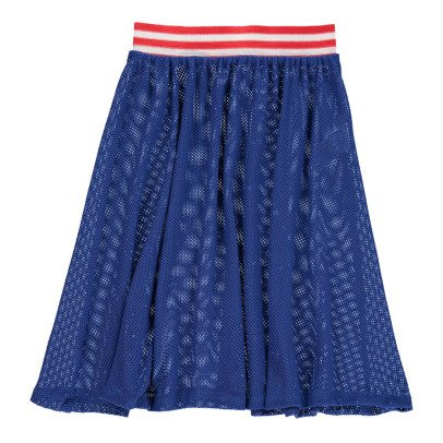 Bobo Choses Nadia Transparent Net Midi Skirt-listing
