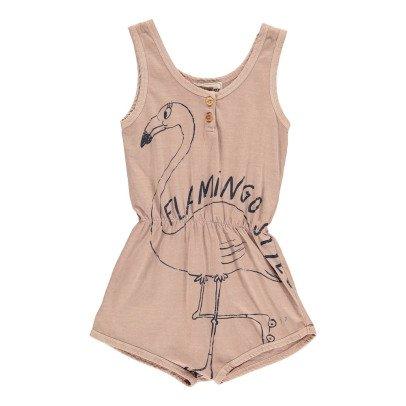 Bobo Choses Kurzer Overall Jersey Flamingo aus Bio-Baumwolle -listing