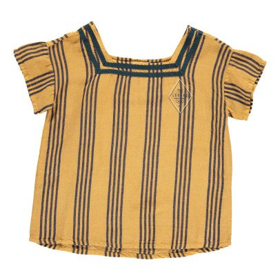 Bobo Choses Legend Striped Sailor Collar Blouse-listing