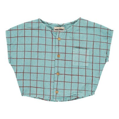 Bobo Choses Team B.C. Checked Button-Up Blouse-product