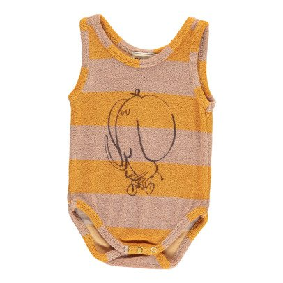 Bobo Choses The Cyclist Striped Sweat Sleeveless Babygrow-product