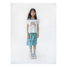 Bobo Choses Beach Ball Burn Out Percale Button-Up Maxi Skirt-listing
