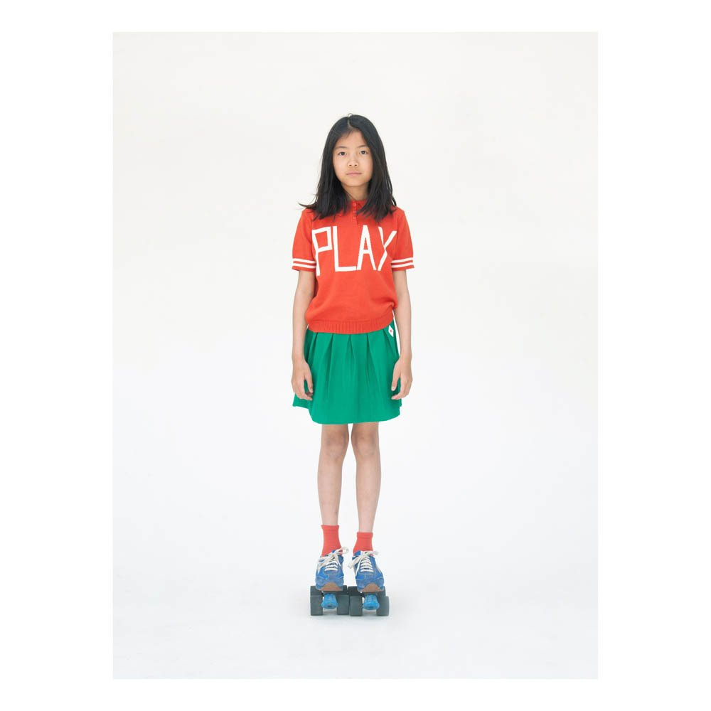 Pleated Knit Skirt-product