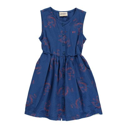 Bobo Choses Flamingo Percale Burn Out Button-Up Dress-product