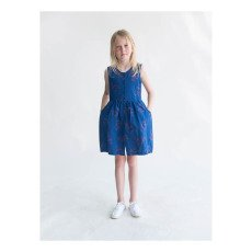 Bobo Choses Flamingo Percale Burn Out Button-Up Dress-listing