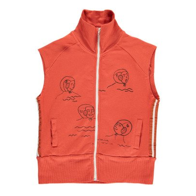 Bobo Choses Organic Cotton Waterpolo Sleeveless Sweatshirt-product