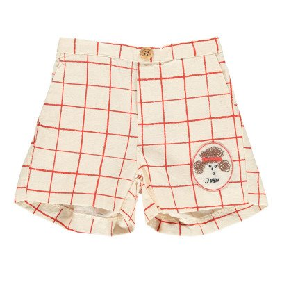 Bobo Choses John Patchwork Net Checked Shorts-listing